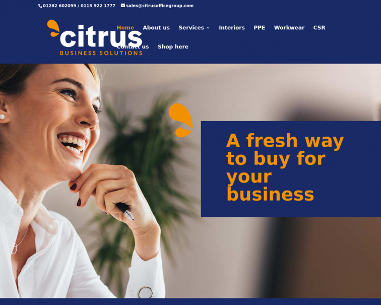 Screenshot of www.citrusbusinesssolutions.co.uk