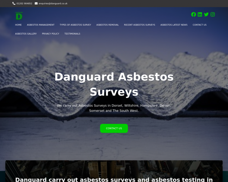 Screenshot of danguard.co.uk