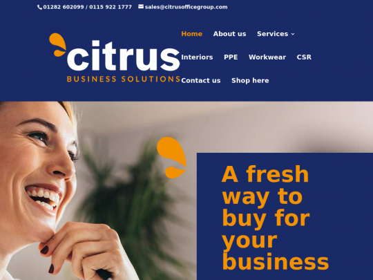 Tablet screenshot of www.citrusbusinesssolutions.co.uk