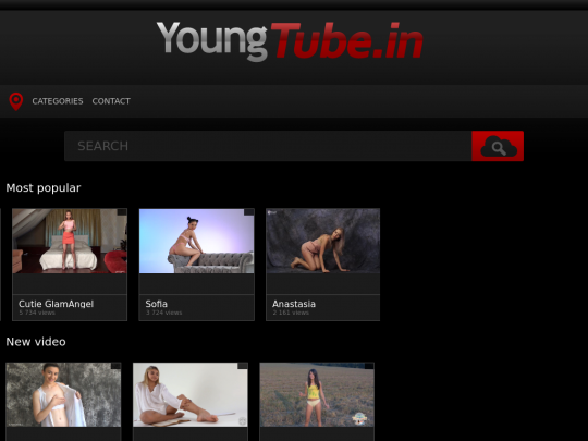 Tablet screenshot of youngtube.in