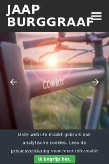 Mobile screenshot of www.jaapburggraaf.nl