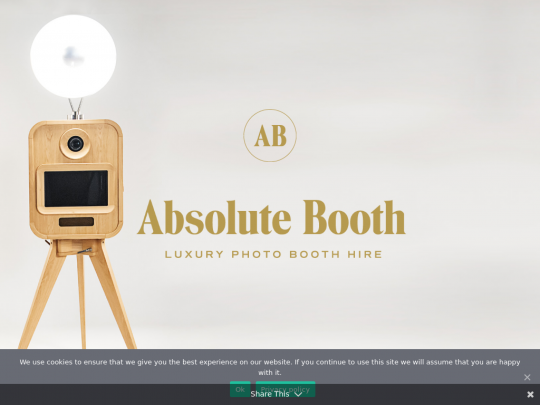 Tablet screenshot of absolutebooth.co.uk