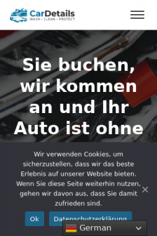 Mobile screenshot of www.cardetails.ch