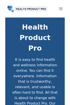 Mobile screenshot of healthproduct.pro