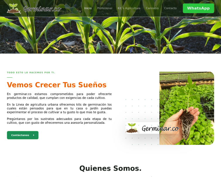 Screenshot of www.germinar.co