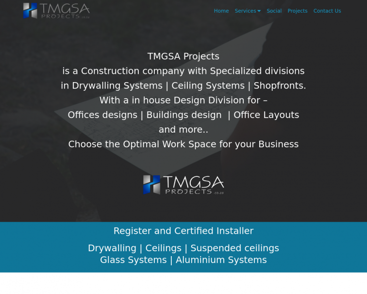Screenshot of www.tmgsa.co.za
