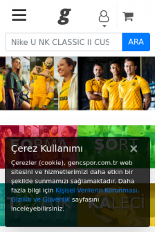 Mobile screenshot of gencspor.com.tr