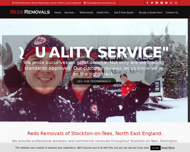 Screenshot of www.reds-removals.co.uk