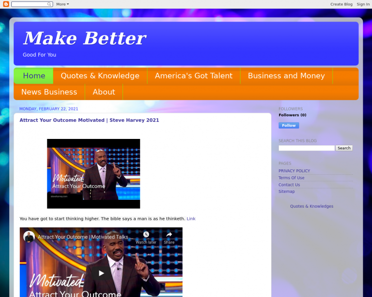 Screenshot of www.makebetter.cc