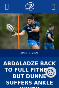 Mobile screenshot of www.leinsterrugby.ie