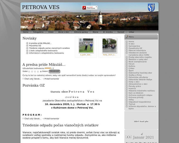 Screenshot of petrovaves.sk
