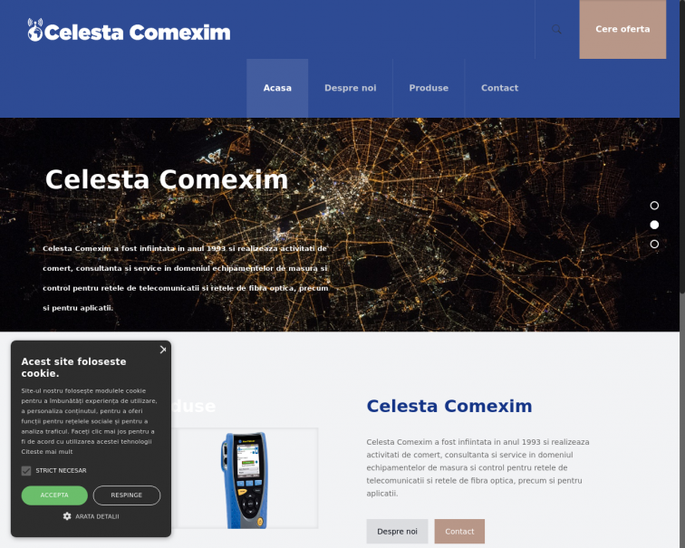 Screenshot of celesta.ro