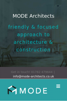 Mobile screenshot of www.mode-architects.co.uk