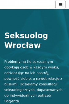 Mobile screenshot of seksuolog-wroclaw.pl