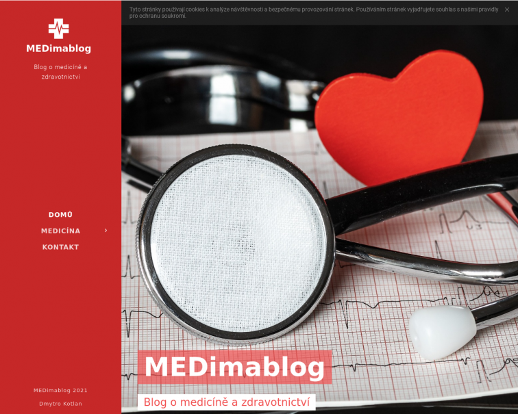 Screenshot of www.medimablog.cz
