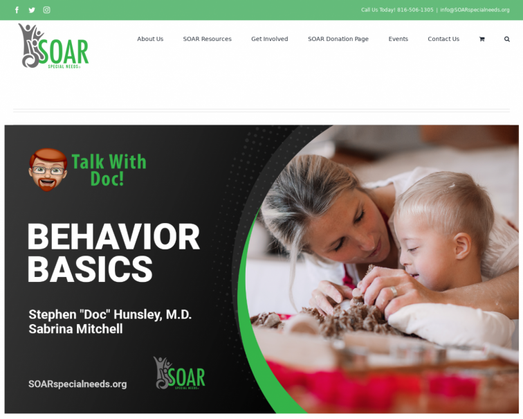 Screenshot of www.soarspecialneeds.org
