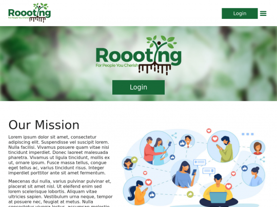 Tablet screenshot of roooting.softwaresolutions.website