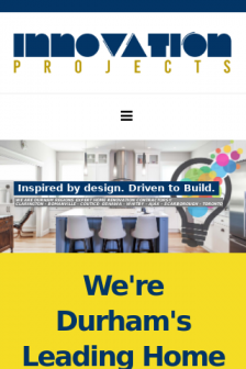 Mobile screenshot of innovationprojects.ca