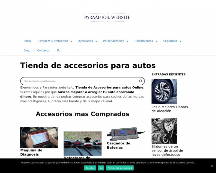 Screenshot of www.paraautos.website