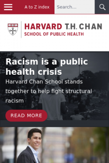 Mobile screenshot of www.hsph.harvard.edu