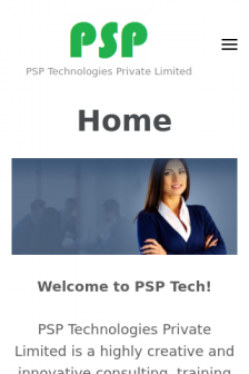 Mobile screenshot of www.psptech.in