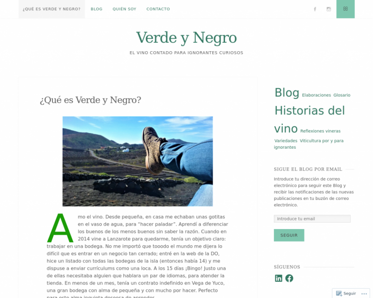 Screenshot of verdeynegro.es