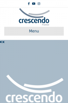 Mobile screenshot of crescendofrance.org