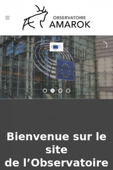 Mobile screenshot of www.observatoire-amarok.net