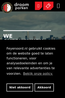 Mobile screenshot of www.feyenoord.nl