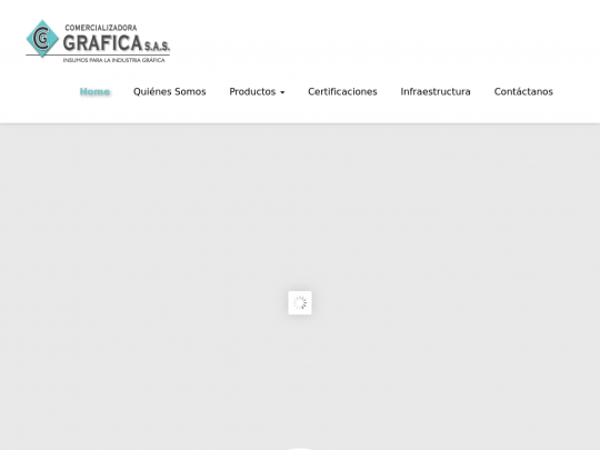 Tablet screenshot of www.cgrafica.net
