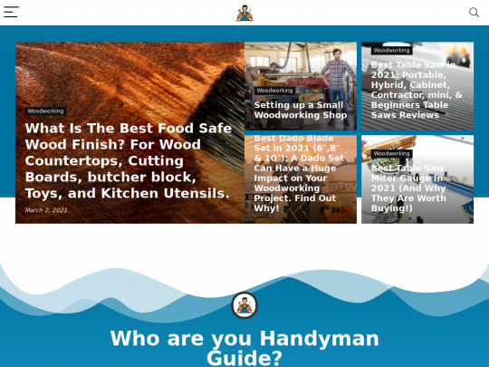 Tablet screenshot of handyman.guide