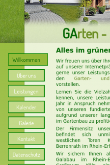Mobile screenshot of www.galabau-mucha.de