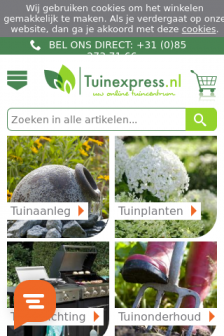 Mobile screenshot of www.tuinexpress.nl