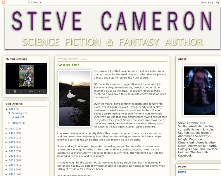 Screenshot of www.stevecameron.website