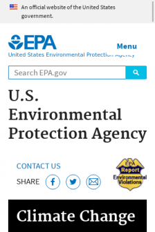 Mobile screenshot of www.epa.gov