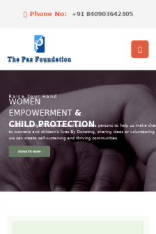 Mobile screenshot of www.thepazfoundation.org