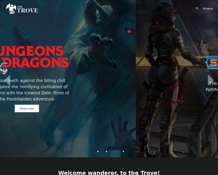 Screenshot of thetrove.is