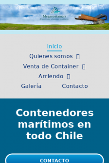 Mobile screenshot of www.megacontainers.cl