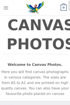 Mobile screenshot of canvasphotos.co.za