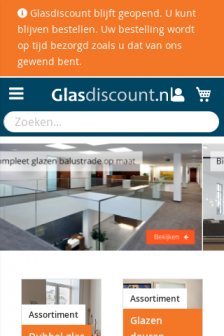 Mobile screenshot of www.glasdiscount.nl
