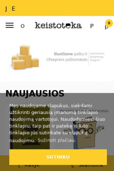 Mobile screenshot of www.keistoteka.lt