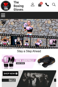 Mobile screenshot of www.theboxinggloves.co.uk