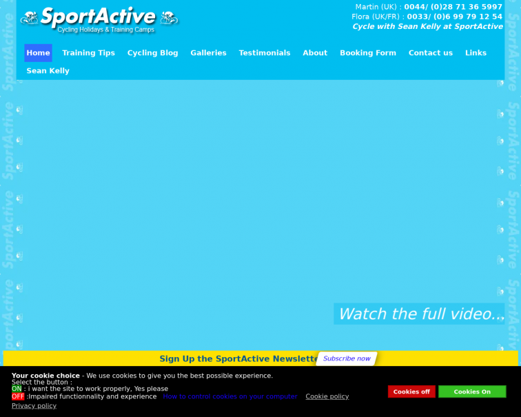 Screenshot of dev2020.sportactive.net
