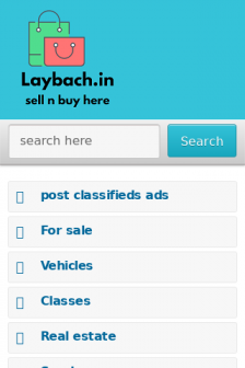 Mobile screenshot of laybach.in