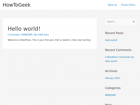 Tablet screenshot of howtogeek.co.in
