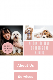 Mobile screenshot of quaytosuccessdogtraining.co.uk