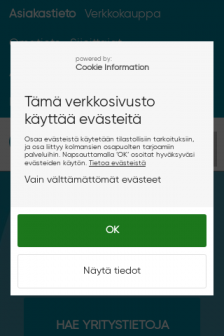 Mobile screenshot of www.asiakastieto.fi