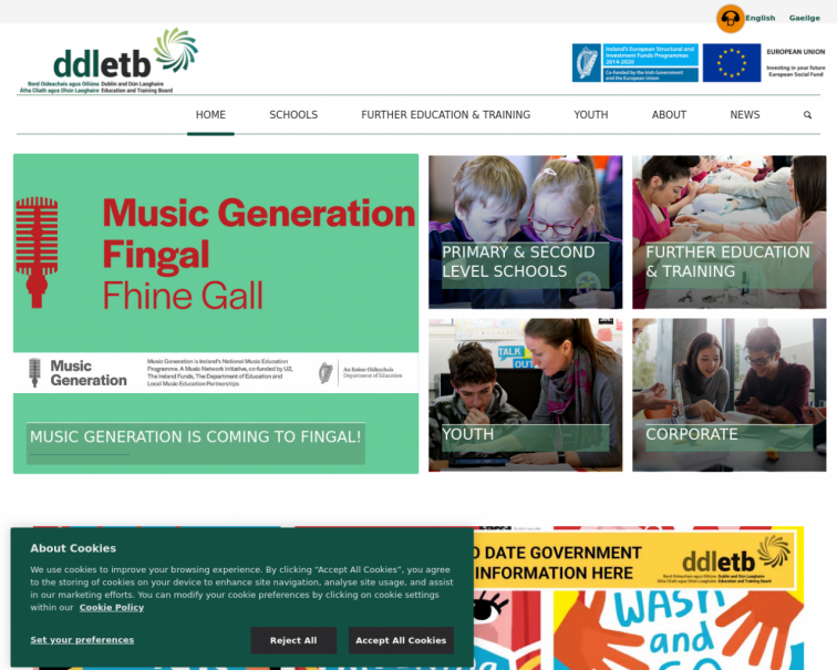 Screenshot of www.ddletb.ie