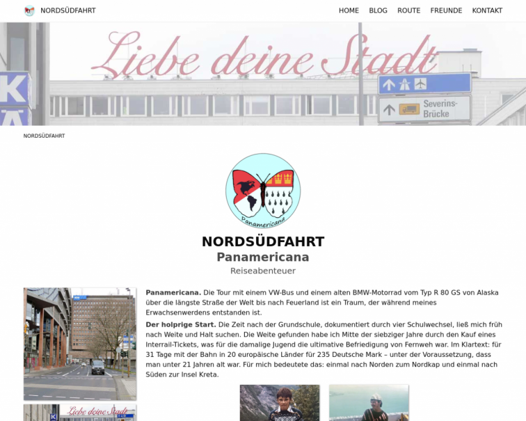 Screenshot of www.nordsuedfahrt.de