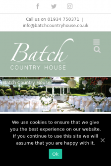 Mobile screenshot of batchcountryhouse.co.uk